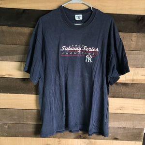 Vintage MLB NY Yankees Subway Series Shirt XXL